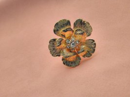 JADE&JASPER Statement Ring Blume