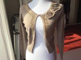 Knitted Bolero beige-camel