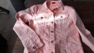 angels jeans Jeansowa kurtka brzoskwiniowy Bawełna