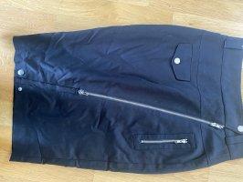 Jean Paul Gaultier High Waist Skirt black-silver-colored