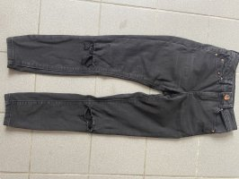 Asos Denim Jeans taille basse noir