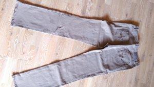 Gerry Weber Jeansy ze stretchu szaro-brązowy Tkanina z mieszanych włókien