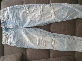 H&M Divided Jeans taille haute bleu azur