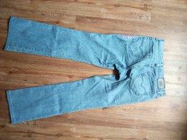 Versace Pantalón boyfriend rojo-azul claro