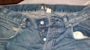 & DENIM Jeansy z prostymi nogawkami stalowy niebieski