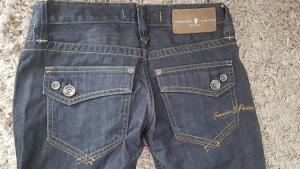 Freeman t. porter Jeans taille basse bleu foncé