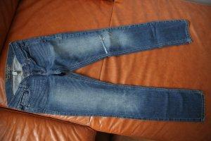 Abercrombie & Fitch Jeans vita bassa blu cadetto Cotone