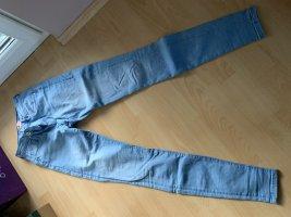 Only High Waist Jeans cornflower blue cotton
