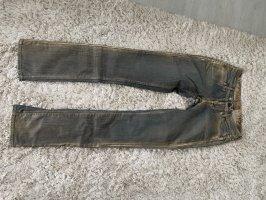 Rich & skinny Jeans elasticizzati oro-grigio ardesia