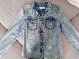 Jeans Bluse Gr. 40