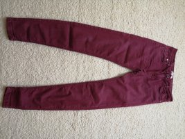 Bershka Jeans skinny bordeaux
