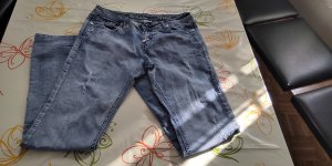 okay Jeans coupe-droite gris ardoise-bleu