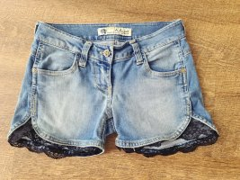 Short en jean noir-bleu acier
