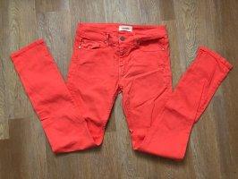 Eleven Paris Jeans a gamba dritta rosa pallido-rosso chiaro