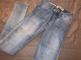 Tally Weijl pantalón de cintura baja azul celeste