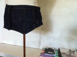 Jeans-Gürtel(rock) von SISLEY, 75 cm