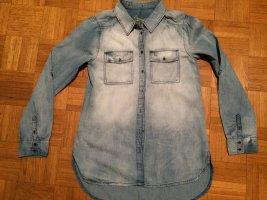 Jeansowa koszula niebieski-chabrowy