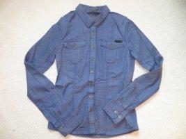 Bench Camicia denim blu