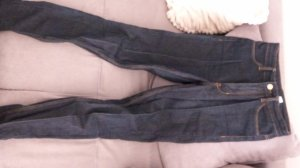 H&M Divided Hoge taille broek donkerblauw