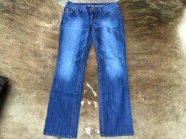 edc by Esprit Pantalon cinq poches bleuet-bleu acier coton