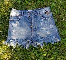 Jeans Hotpan, Shorts Zara Denim 34