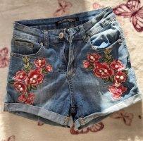 Pantalón corto de tela vaquera multicolor