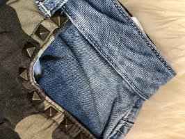 Jeans-Hotpants mit Camouflage-Muster