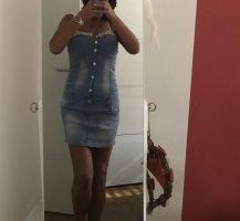 Jeans Kleid / Perlen / Strass von Mode Haus gr38, neu
