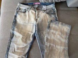Levi's Boyfriend Trousers white-steel blue