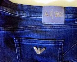 Armani Jeans Jeans a 7/8 blu-argento Cotone