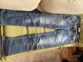 Mango Jeansy o kroju boot cut ciemnoniebieski-niebieski