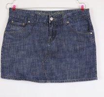 Jeans Mini Rock Street One Größe S 36 Denim Dark Blue Schwarz Grau Blau Upcycling Minirock