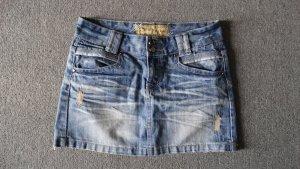 Sublevel Denim Skirt cornflower blue-pale blue cotton
