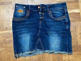 Jeans Minirock mit bunten Nähten