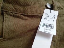 Jeans Minirock olivgrün gr.34