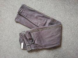Jeans mit Glitzerstreifen 36 ZARA