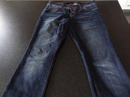 Blind Date Pantalon cinq poches bleu foncé coton