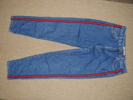 H&M Hoge taille jeans blauw-rood