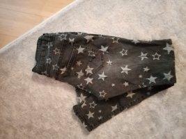 Workowate jeansy antracyt-srebrny Bawełna
