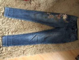 aus Italien Skinny Jeans azure cotton