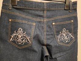 Image Jeans 3/4 bleu pâle coton
