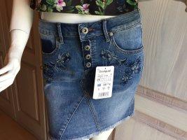 Jeans Rock Desigual 26 blau neu 34 XS