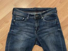 H&M Broek met wijd uitlopende pijpen blauw