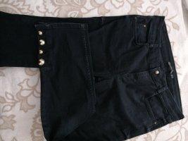 Jeans schwarz mit goldenen Details Zara
