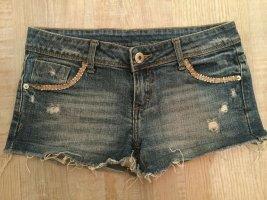 Jeans Short Hot Pants Strass zerrissen destroyed look