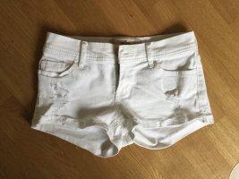 Jeans-Short weiß
