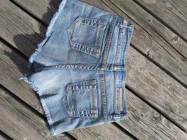 Silvian heach Short en jean bleu