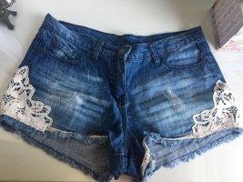 Innocence Short en jean bleu