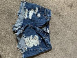 Pull & Bear Denim Shorts blue