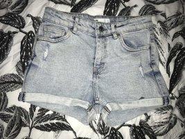 Jeans Shorts Bershka blau